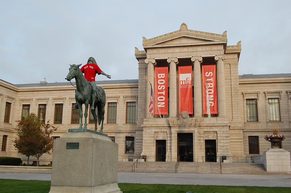 Exterior of Museum of Fine Arts Boston