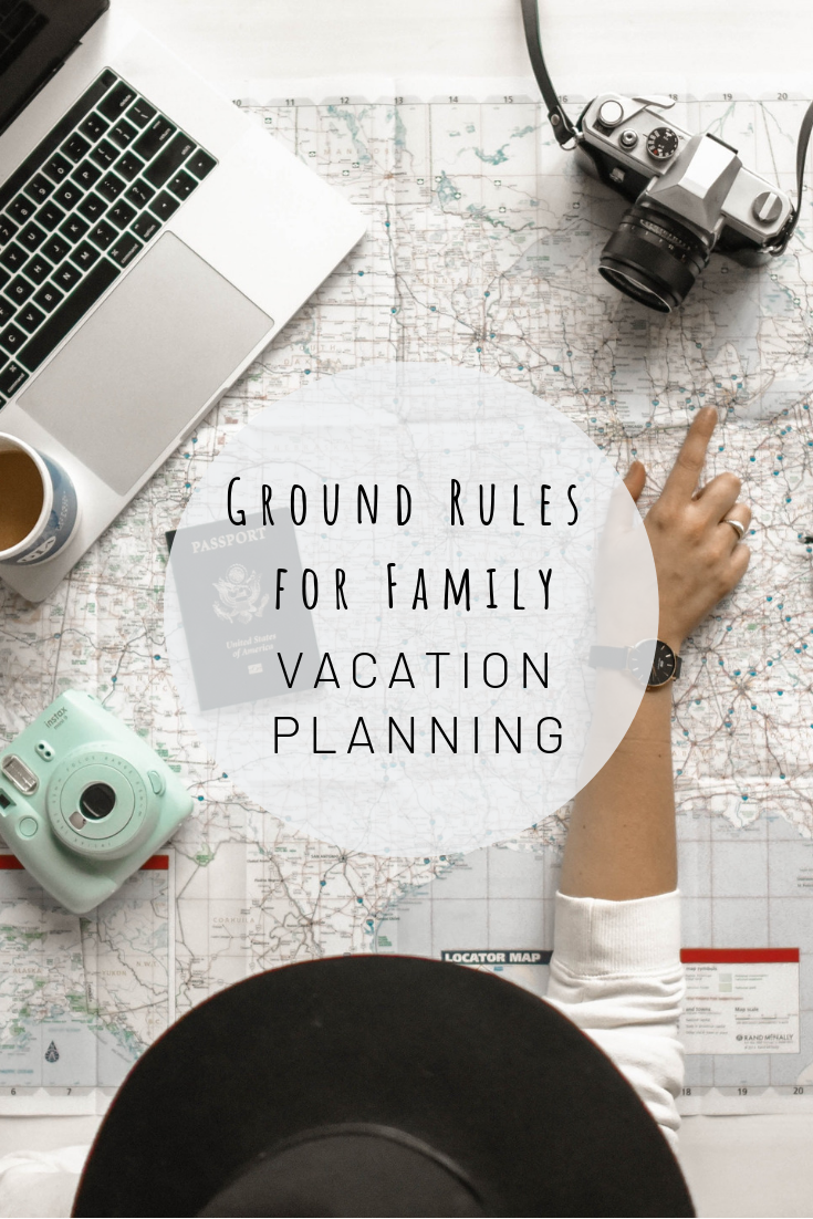 Pinterest photo for ground rules for family vacation planning