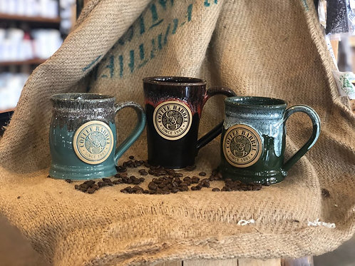 Handmade Ceramic Coffee Barrel Mug, 16 oz.