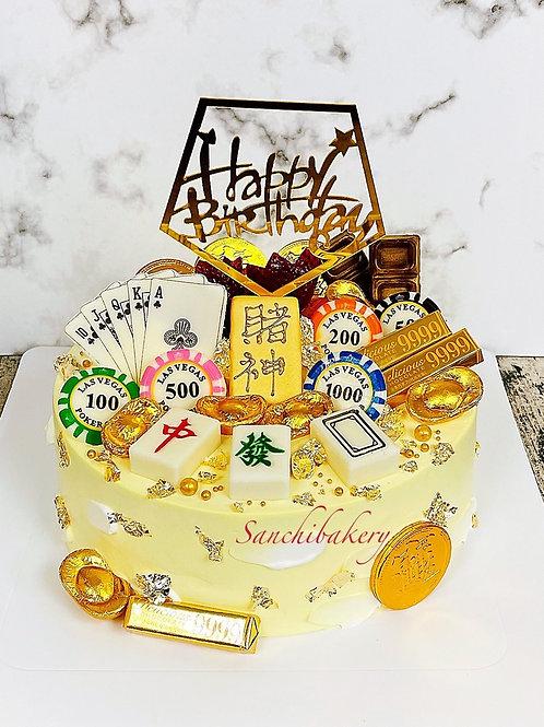 賭神拉錢蛋糕(8吋)