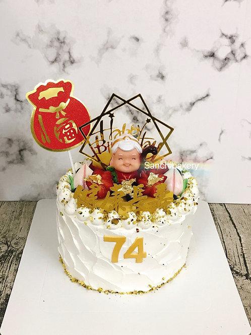 壽婆婆拉錢蛋糕A款(6吋)