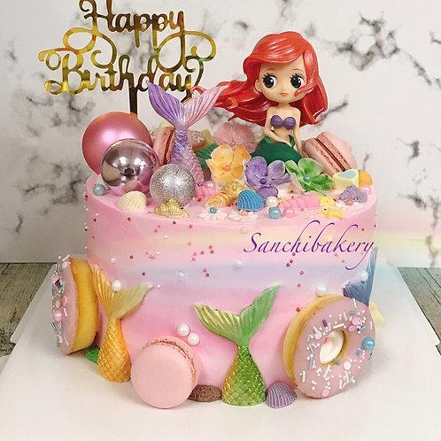 美人魚公主蛋糕(8吋)