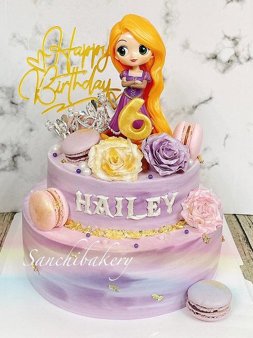 長髮公主蛋糕