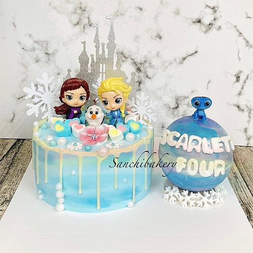Elsa扑扑球蛋糕