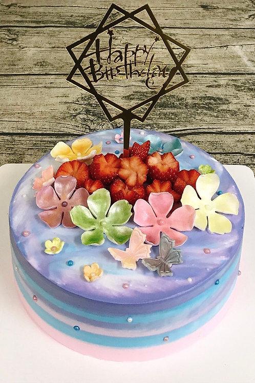 花花世界蛋糕(8吋)