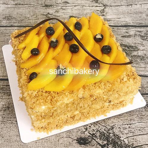 芒果拿破侖蛋糕 (6吋)