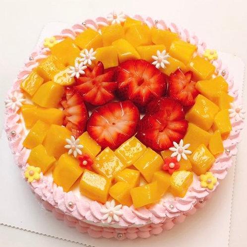 士多啤梨芒果蛋糕 (2.5磅)