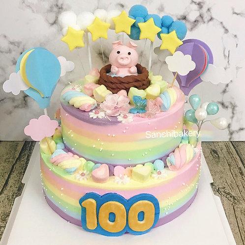 小豬BB滿月蛋糕
