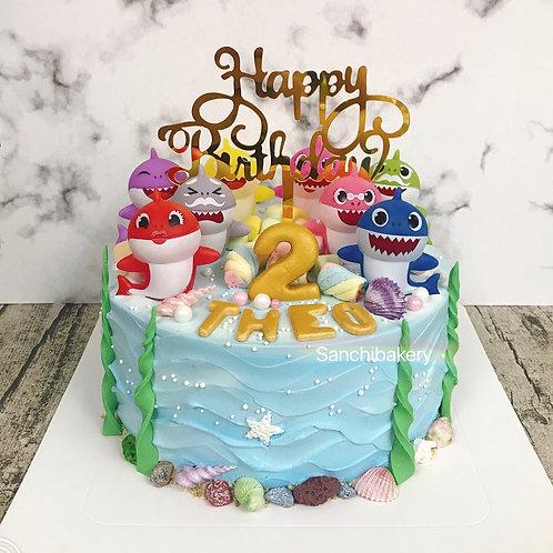 Baby Shark蛋糕(7吋)
