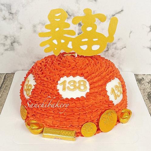 幸運數字球拉錢蛋糕(8吋)