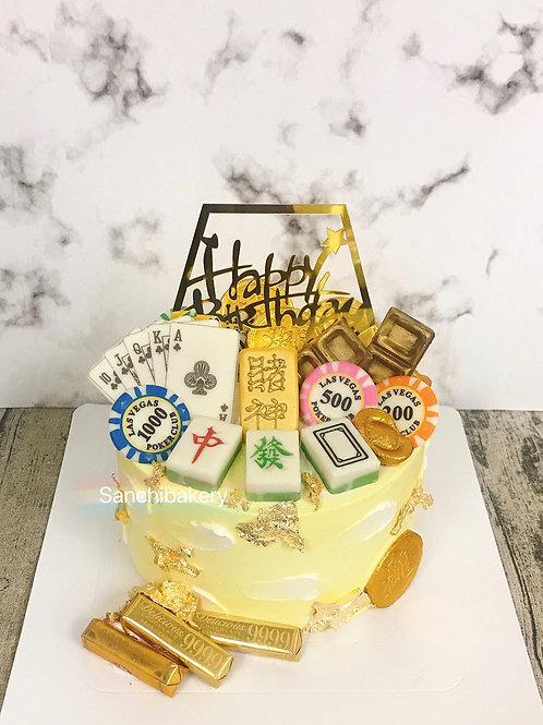 賭神拉錢蛋糕(6吋)