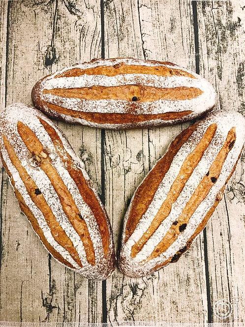 黑麥合桃提子麵包