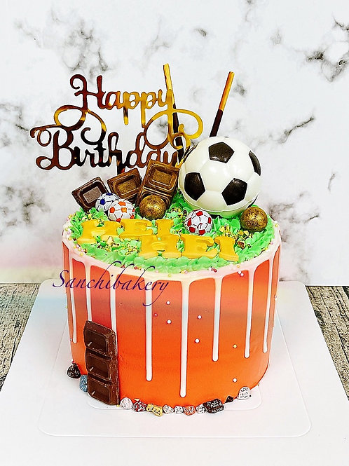 足球拉錢蛋糕(6吋)