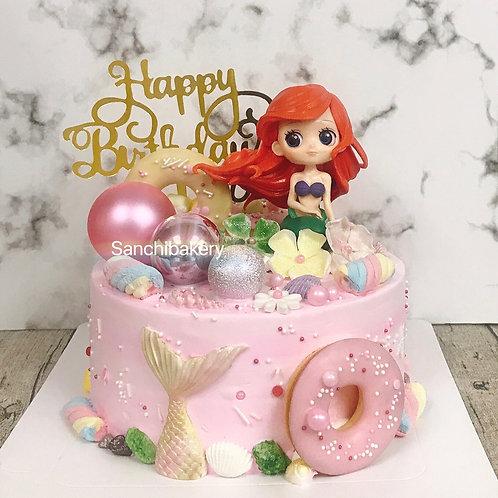 美人魚公主蛋糕(7吋)