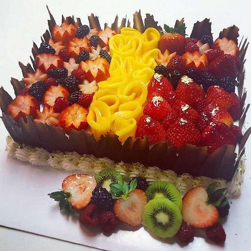 鮮雜果盛宴蛋糕(5磅)