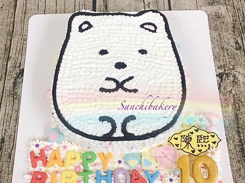 角落生物手繪蛋糕(白熊)