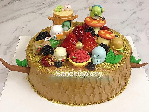 角落生物蛋糕 (8吋)