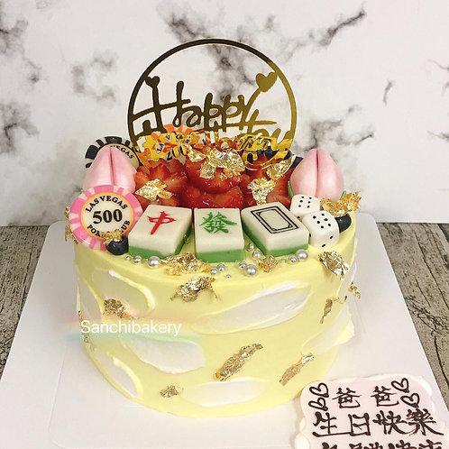 中發白拉錢蛋糕(6吋)