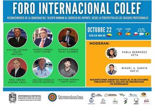 22 octubre: El I Foro Internacional COLEF abordará el contexto de la profesión en cada país