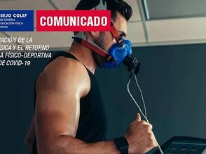 Comunicado sobre condición física y retorno a la práctica físico-deportiva en tiempos de COVID-19