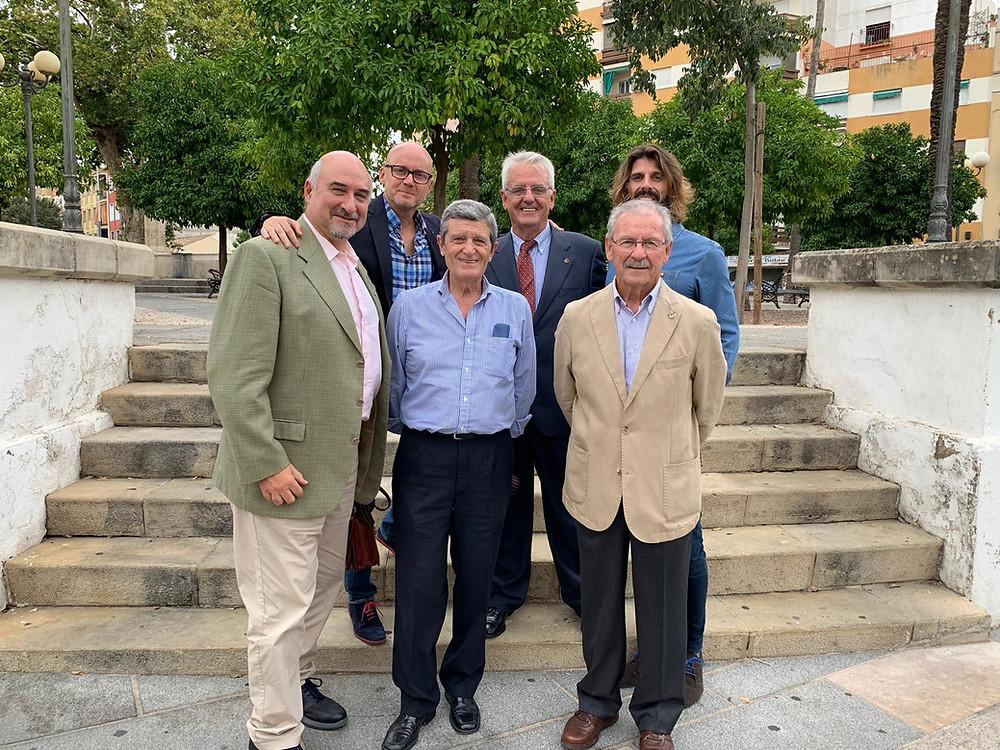 De izda. a dcha. Arriba: Alejandro Serrano, Rafael Morente y Francisco Javier Muñoz. Abajo: Jaime Vallejo, Antonio Ángel Sánchez e Ignacio Manzano.