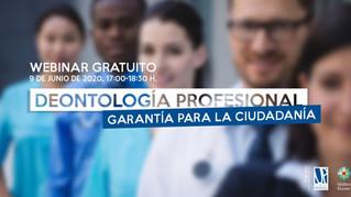 Inscripciones abiertas para el webinar 'Deontología Profesional: garantía para la ciudadanía'