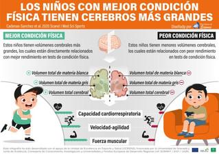 Los niños con mejor forma física tienen cerebros más grandes, según un estudio de la UGR