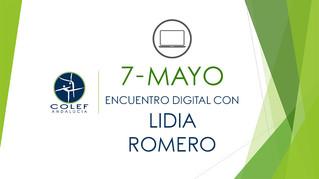 7 de mayo: Encuentro digital COLEF Andalucía con Lidia Romero
