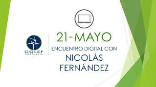 21 de mayo: Encuentro digital COLEF Andalucía con Nicolás Fernández Martínez