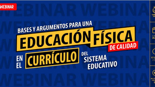 Webinar gratuito sobre las 'Bases y argumentos para una EF de Calidad en el currículo'