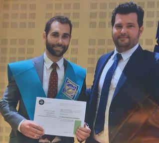 El COLEF Andalucía hace entrega del premio al mejor expediente en la Ceremonia de Egresados de la UP
