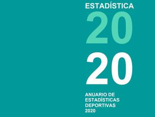 Publicado el Anuario de Estadísticas Deportivas 2020