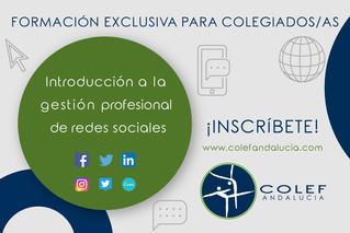 """Abierta inscripción para colegiados/as y precolegiados/as COLEF Andalucía del curso online """"Int"""