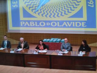Representantes del COLEF Andalucía, presentes en los actos de graduación de UPO y UHU
