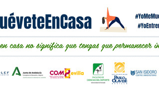 El COLEF Andalucía lanza la campaña #MuéveteEnCasa para fomentar el ejercicio físico de la mano de p