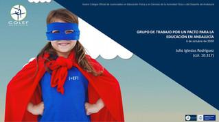 Comparecencia ante el Parlamento andaluz: Grupo de Trabajo para un pacto social por la Educación