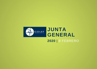 8 Febrero: Junta General Ordinaria COLEF  2020
