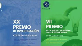 Fallados los Premios COLEF Andalucía 2016
