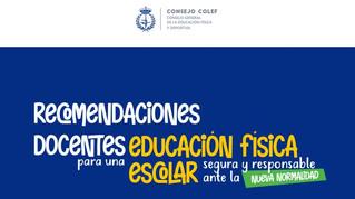 """Recomendaciones para una Educación Física segura y responsable ante la """"nueva normalidad"""""""