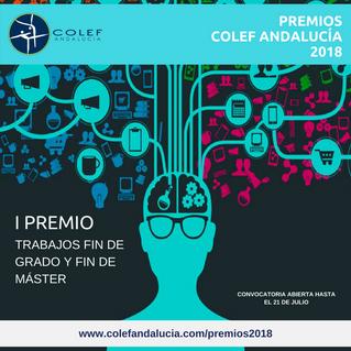 El COLEF Andalucía convoca el I Premio TFG y TFM