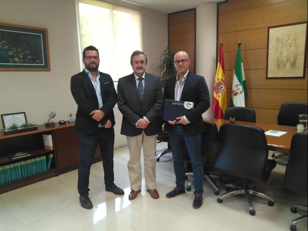 De izda. a dcha.: José Carlos Gómez, José María de Torres y Alejandro Serrano