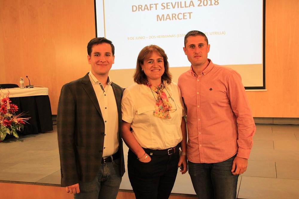 De izda. a dcha.: Eduardo Alarcón, Patricia Sosa y Moisés Falces