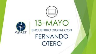 13 de mayo: Encuentro digital COLEF Andalucía con Fernando Otero