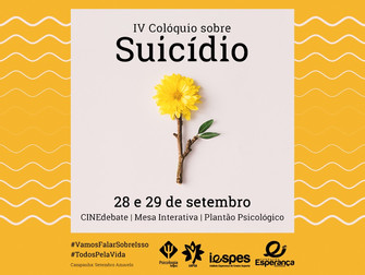 Iespes realiza o IV Colóquio sobre Suicídio