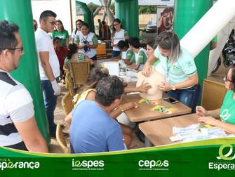 Fundação Esperança realiza ação de promoção à saúde em Shopping
