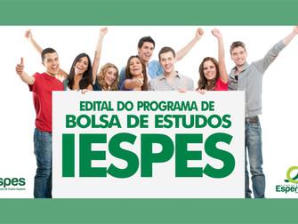 Iespes lança edital do programa de bolsa de estudos 2018