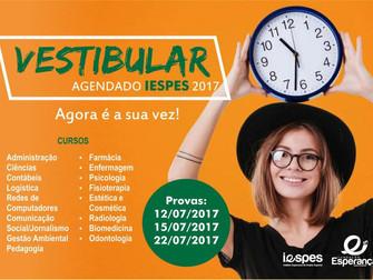 Vestibular agendado Iespes 2017/2