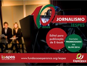 Iespes lança edital para publicação de e-book pelos 10 anos do curso de Jornalismo