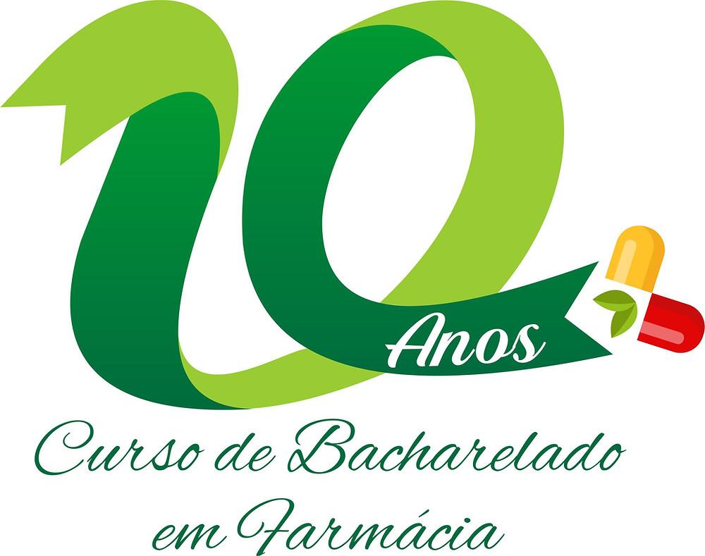 Logomarca vencedora do concurso em comemoração aos 10 anos do curso de Farmácia