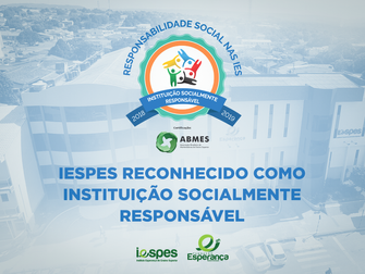 Iespes é reconhecido pelas ações na comunidade com o selo de responsabilidade social